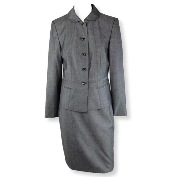 Calvin Klein Skirts Womens Skirt Suit 2 Piece Gray New Poshmark